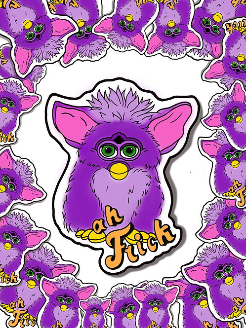 "Furby ""Ah Frick"" Sticker"