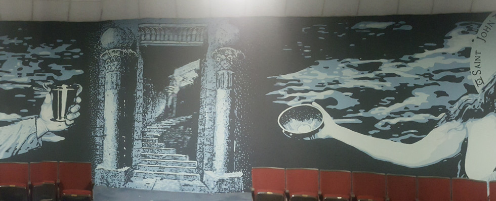 Indoor Masonic Lodge Mural