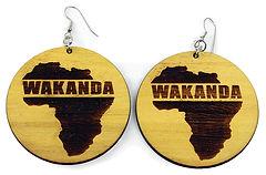 AFRICA IMP J-E119 SM-MED WOODEN WAKANDA