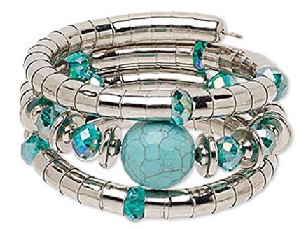 Bracelet - Magnesite & SilverTone