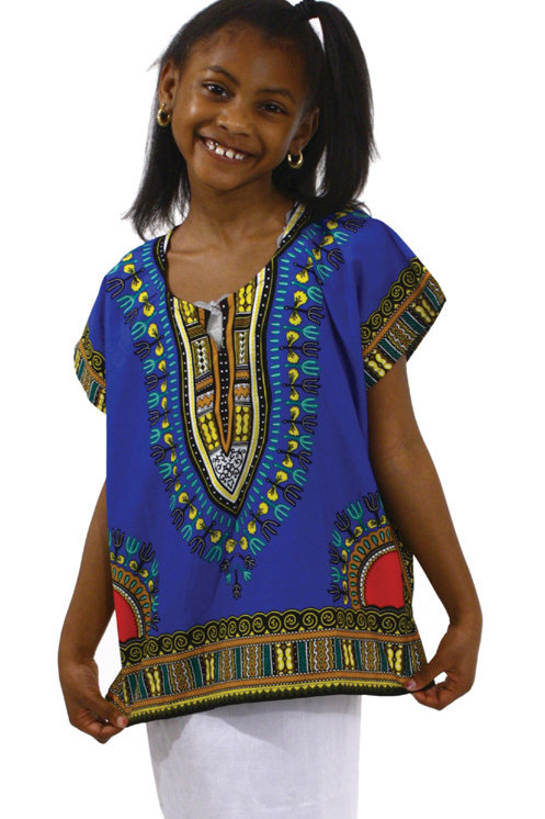 BLUE & MULTI CHILD DASHIKI