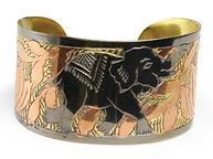 AFRICA IMP JB957 COPPER & BRASS ELEPHANT