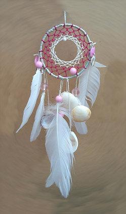 Dreamcatcher rose et blanc