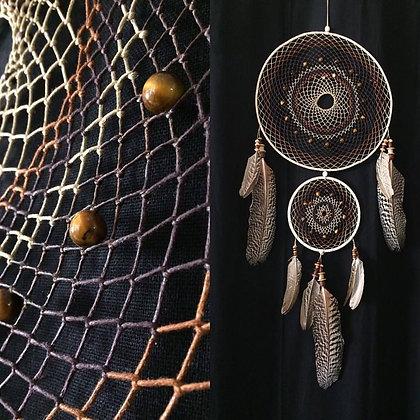 Dreamcatcher tricolore double anneaux