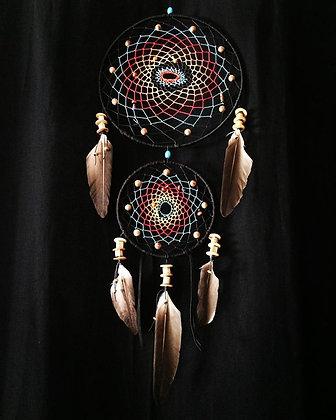 Dreamcatcher multicolore double anneaux