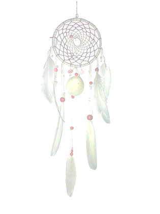 Dreamcatcher blanc et rose