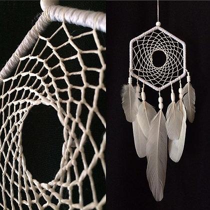 Dreamcatcher Hexagonal Blanc