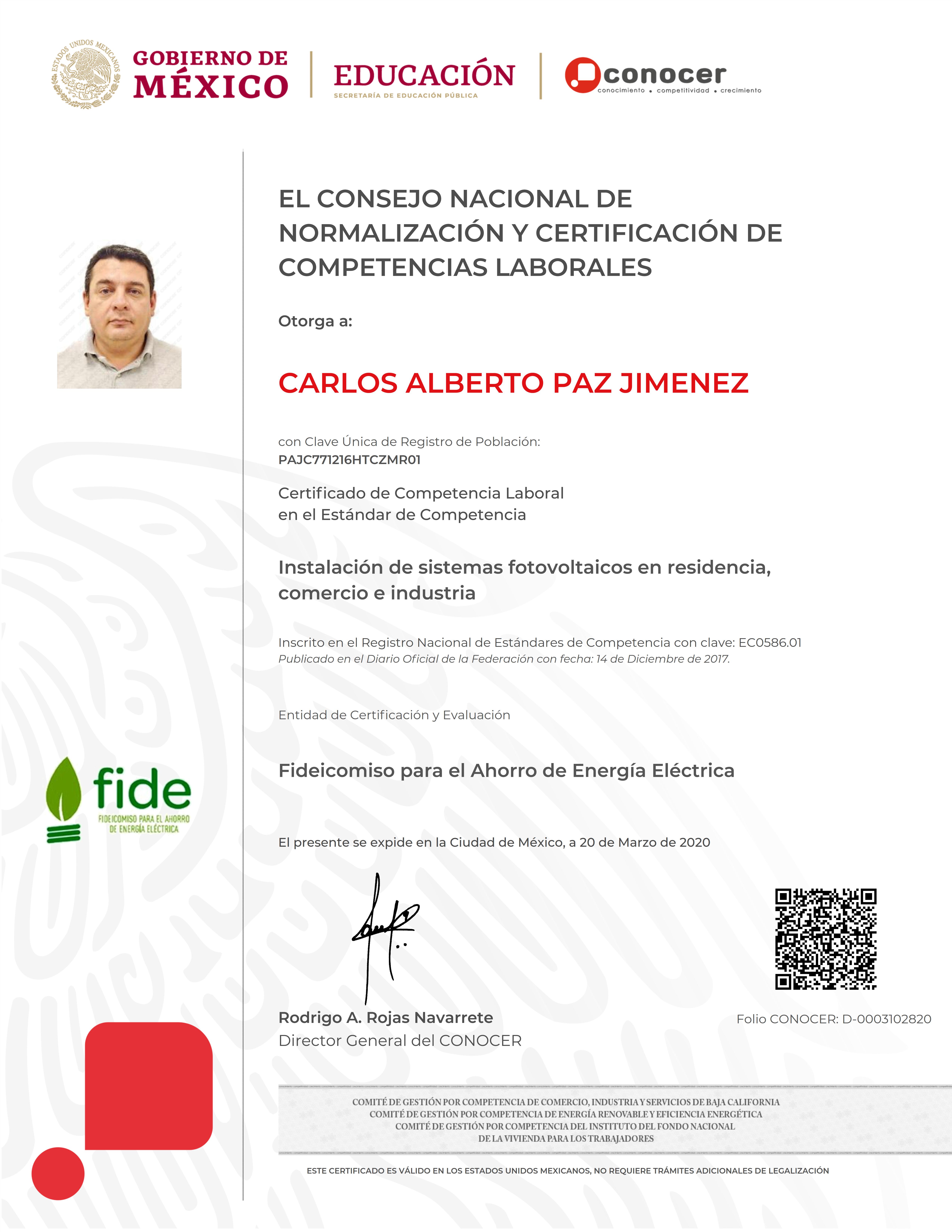 CERTIFICADO EC0586.01