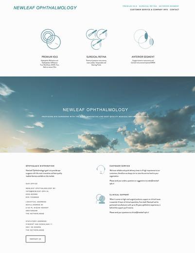 website voor NewLeaf Ophthalmology