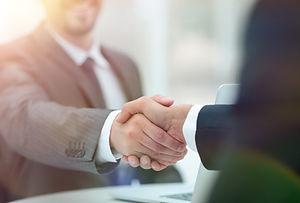 closeup .handshake of business partners
