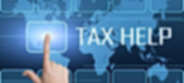 Tax Help concept with interface and worl