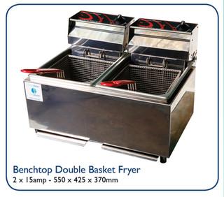 Benchtop Double Basket Fryer