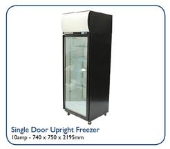 Single Door Uprigt Freezer