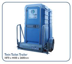Twin Toilet Traier