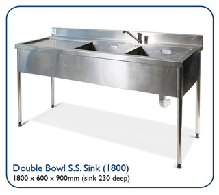 Double Bowl S.S. Sink (1800)