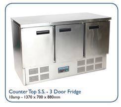 Counter Top S.S. - 3 Door Fridge