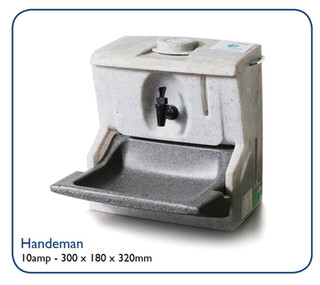 Handeman - self-contained hand was sink