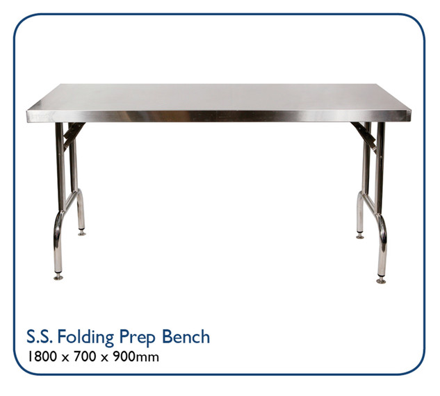 Stainless Steel Folding Prep Bench