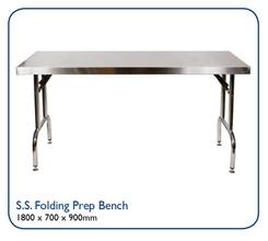 Stainless Steel Folding Prep Bench