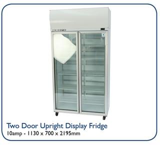 Two Door Upright Display Fridge