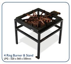 4 Ring Burner& Stand