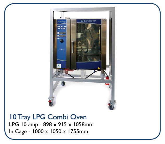 10 Tray LPG Combi Oven