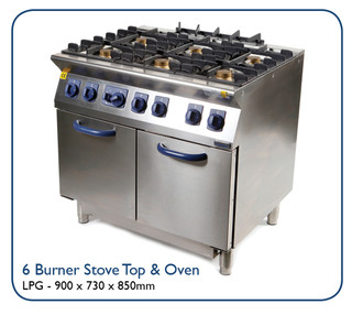 6 Burner Stove Top & Oven