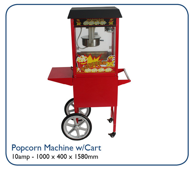 Popcorn Machine w/Cart