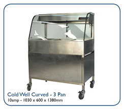 Cold Well Curved- 3 Pan