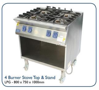 4 Burner Stove Top & Stand