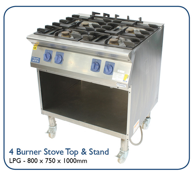 4 Burner Stove Top & Stand