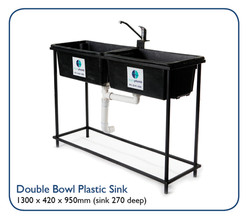 Double Bowl Plastic Sink