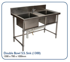 Double Bowl S.S. Sink (1300)