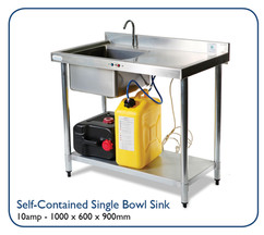 Self-Contained Single Bowl Sink