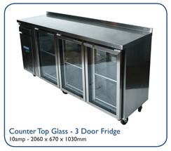 Counter Top Glass - 3 Door Fridge