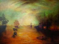 Taller de pintura al óleo Alumna Itzel Sarai Óelo sobre lienzo