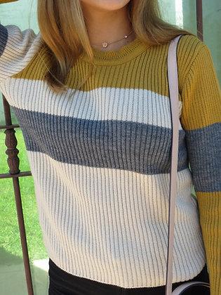 Suéter rayado