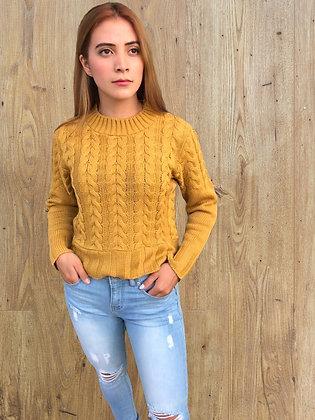Suéter corto trenzas