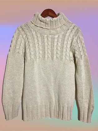 Suéter mitad trenzas