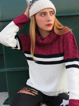 Suéter rayado trenzas