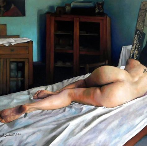 Desnudo y espejo I