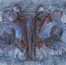 Dos medallones azules