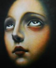 Taller de técnicas de pintura Alumna Mónica Zuñiga Óleo directo sobre lienzo