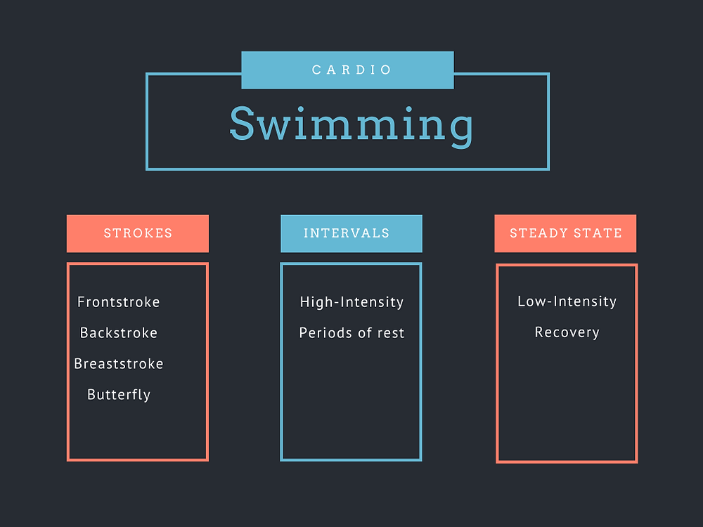 Outline of the swimming workouts talked about in the post