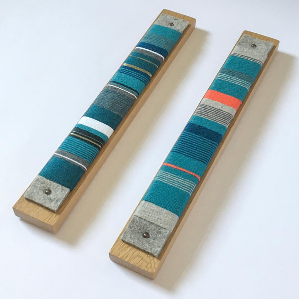 Yarn wrap wall-hangings