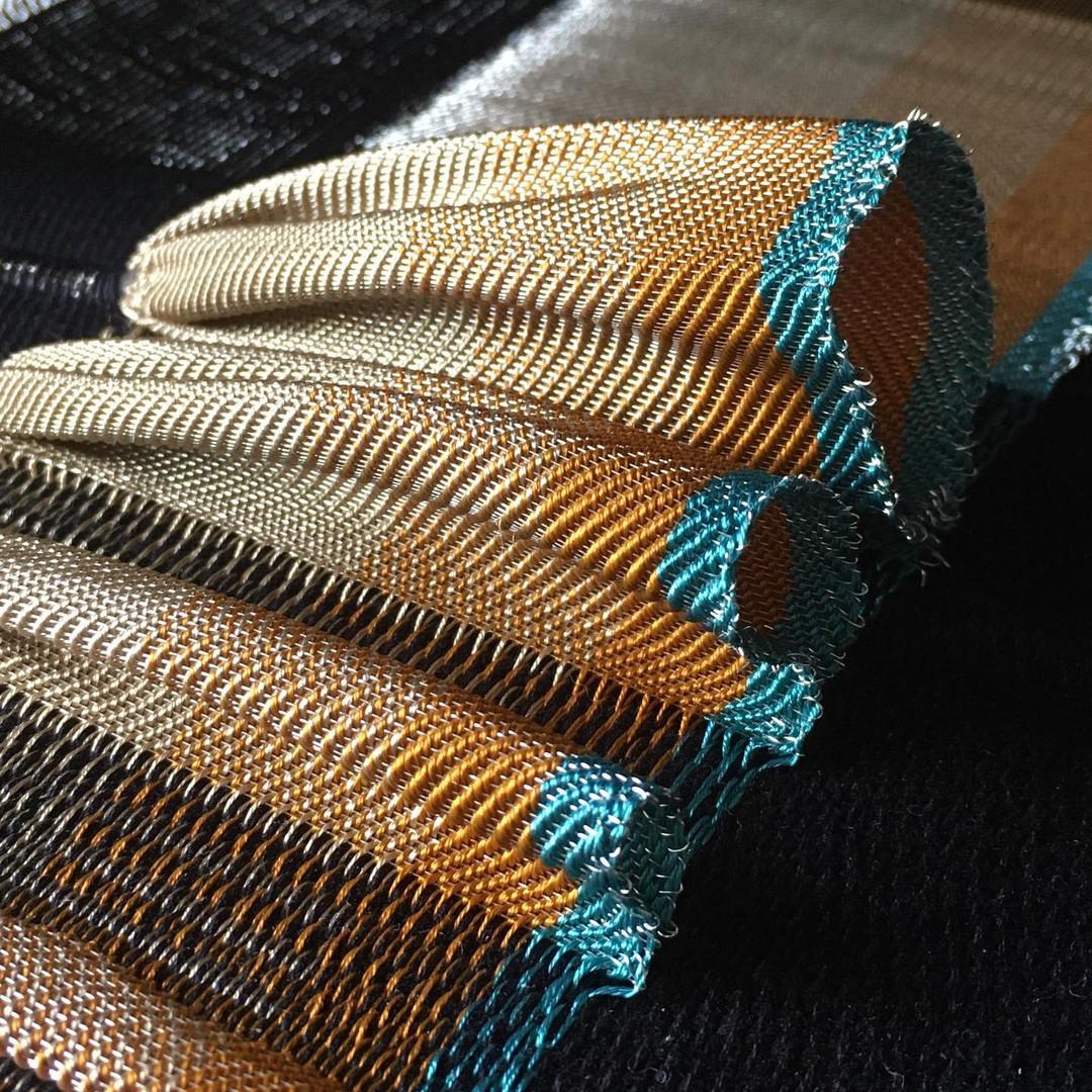 Handwoven pleat detail