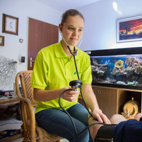 Blutdruck messen, Spitex Oberwallis, SMZ Oberwallis