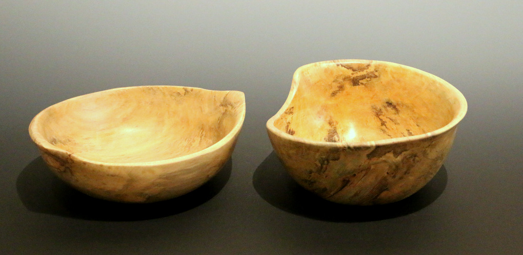 5'' spalted holly bowls (set)