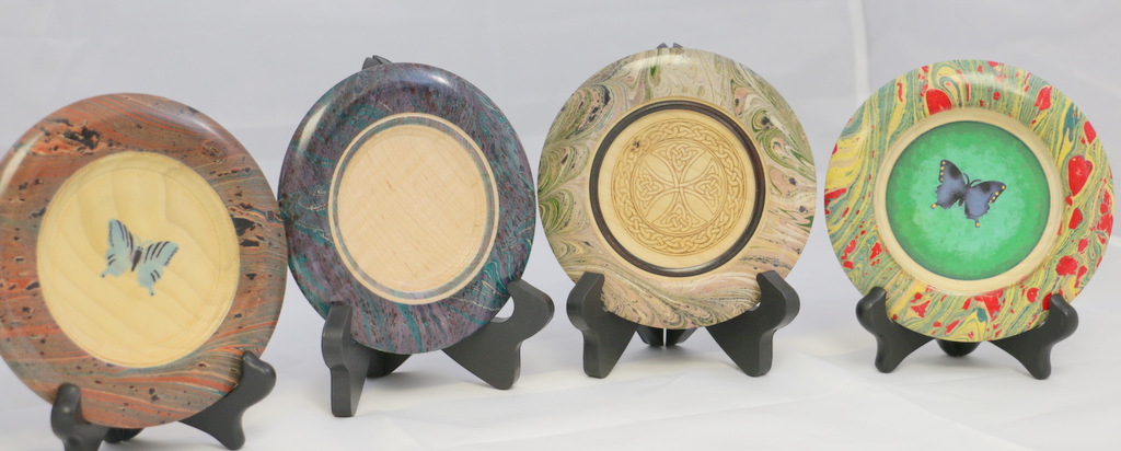 sample platters w marblized rim