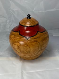 Cherry and Blackwood urn